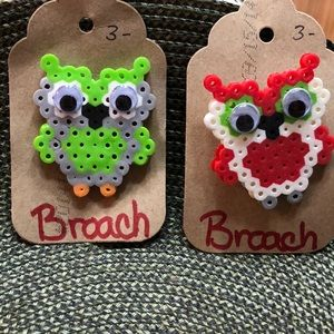 Jewelry - Two Owl Broaches Homemade